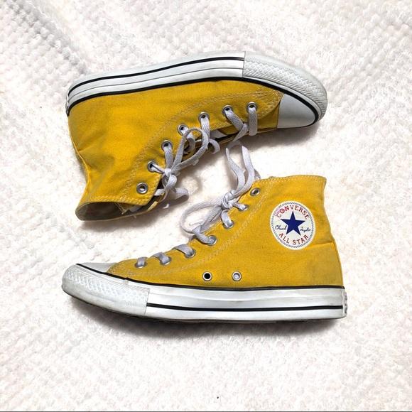 Yellow Converse All Star Hi Top Mens